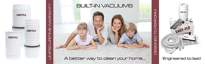Easy Flo Built In Vacuum Cleaners